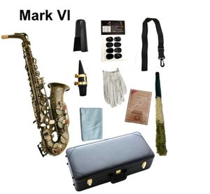 Real Pictures MARK VI Alto Saxophone E Flat Antique Copper Plated Woodwind Instrument With Case Mouthpiece