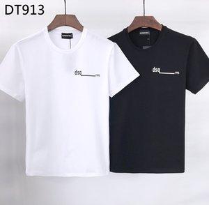 DSQ PHANTOM TURTLE 2020SS New Mens Designer T shirt Paris fashion Tshirts Summer DSQ Pattern T-shirt Male Top Quality 100% Cotton Top 6815