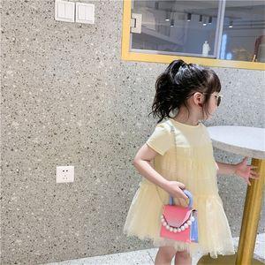 Girls Handbags Kids Bags Children Accessories Childrens Cute Pearl Mini One Shoulder Messenger Bag Leather Chain Purses Handbag 3085 Q2