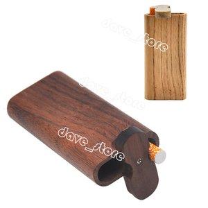 Wooden Cigarette Case Outdoor Portable Walnut Tobacco Storage Box Household Smoking Accessories