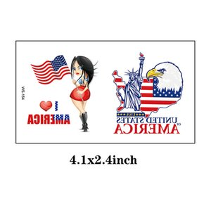 Fourth of July Temporary Tattoo Independence Day Tattoos American Flag Design USA Stickers Labor Day Memorial Day Party Supplies EEB5722