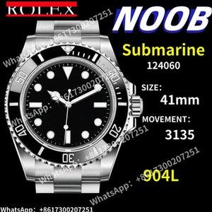 Мужские автоматические механические часы 124060 904L Отразависимые стальные 1: 1 Версия Chronograph 3135 наручные часы