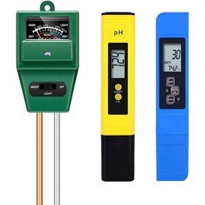 متر، tds ppm متر، اختبار درجة الحموضة التربة، كيت ph / EC الرقمية، اختبار التربة كومبو متر للنباتات حديقة متر