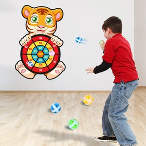 Educational Board games Target Sticky Ball Dartboard Creative Throw Party outdoor Sports indoor Cloth toys for kids Basketball