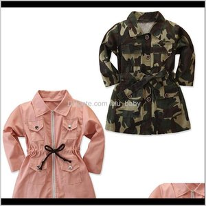 Kids Clothes Girls Camouflage Tench Coats Children Outwear Spring Autumn Fashion Boutique Baby Clothing C1411 Sdbnv Dfuat