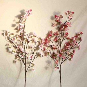 Yapay Kiraz Şeftali Çiçeği Sahte Ipek Çiçek Ev Düğün Parti Çiçek Dekor Güzel Buket Noel DIY Dekorasyon Dekoratif Flowe