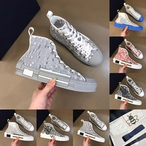 Kutusu 2021 Hommes ile Son Beyaz Düşük Üst Ayakkabı Şeffaf Baskı Lüks Bayanlar Yüksek Üst Sneakers Tuval Erkekler Ve Kadınlar Moda Rahat Ayakkabılar Boyutu: 36-45