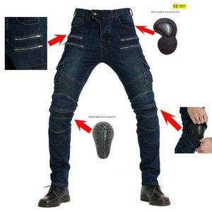 Pantalones de montar para motocicletas Jeans para hombre Caída Off-Road Verano Cuatro temporadas ocio Pantalones de motocicleta Puro Algodón