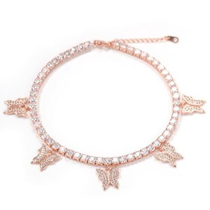 2021 Summer Top Sell Butterfly Anklets Sparkling Luxury Jewelry 925 Sterling Silver High Quality Party Sweet Cute Gilrs Women Fashion Tennies Chain Gift