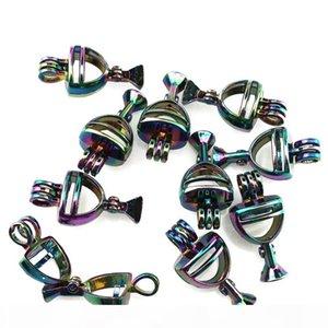 C613 Arco-íris Color Vinho Pearl Cage Troféu Vencedor Locket Colar Pingente - Sorte Presente Difusor de óleos essenciais