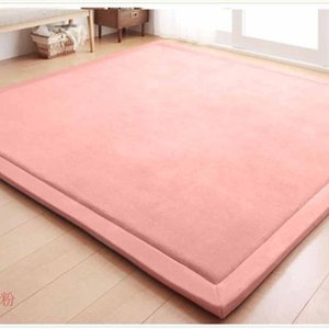 Carpets Alfombra 2cm Thicken Baby Play Mat Durable Non-slip Coral Fleece Blanket Soft And Comfortable Kids Rugs For Living Room