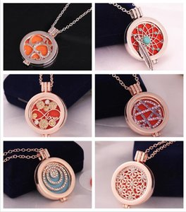 Lockets Jewelrylockets & Pendants Jewelryessential Oil Necklaces Locket Necklace Women Aromatherapy Diffuser Necklces With 3 Color Pads Fash