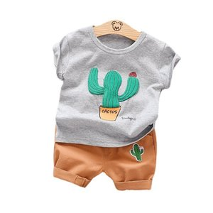 New Summer Newborn Baby Girl Clothes Children Boys Cotton T-Shirt Shorts 2Pcs sets Toddler Sport Casual Clothing Kids Tracksuits