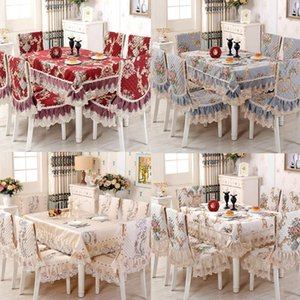 High Grade Luxury Europe Lace Floral Embroidery Tablecloth Round For Wedding Table Cloth Tea Tablecloths