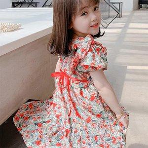 Девушка платья 2021 летние девочка цветочное платье дети для девочек одежда одежда детские наряды малыш