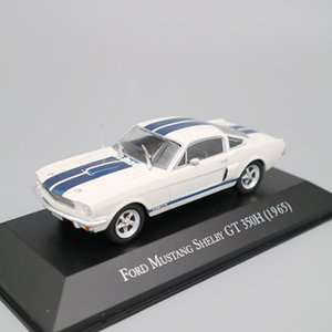 IXO Altaya 143 Scale Ford Mustang Shelby GT 350H 1965 Cars Diecast Alloy Boys for Toys Models Limited Edition Collection White