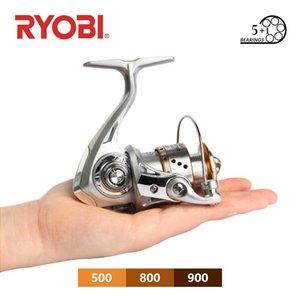 Original Ryobi Spinning Rolle Sea Feder Angelrad Wasserdichte Surfen 5 + 1BB 5.2: 1 3kg Max max Drag Saltwater Tackle Baitcasting Rollen