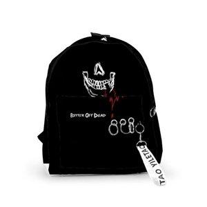 Backpack JADEN HOSSLER Angel And Demon Fashion Men Women Oxford Hanging Buckle Style Girls Child School Bag Travel