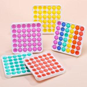 DHL las últimas multicolor Pop IT Fidget Sensory Pushs Toys Bubble Board juego Ansiedad Estrés Reliever Kids Adultos Autismo Necesidades especiales