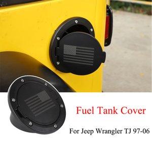 Black Gas Cap Fuel Tank Cover For Jeep Wrangler TJ 97-06 Auto Exterior Accessories US Flag