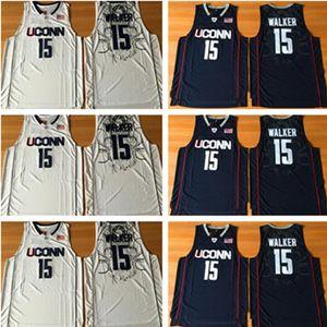 Uconn Huskies 15 Kemba Walker College College Basketball Jerseys University Wears Navy White Men Ncaa Nähed Jersey S-2XL Wear Top Qualität