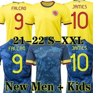 Top Quality 2021 Falcao James Soccer Jersey 21 22 Home Cuadrado BACCA 2022 Away Blue Football Camicia Sport Short Colombian Valderrama