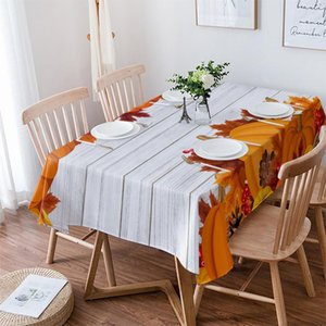Table Cloth Thanksgiving Pumpkin Wedding Party Waterproof Oilproof Dining Cover Kitchen Home Decor Tablecloth