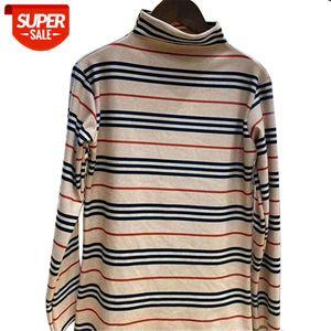 Bonjean Long Sleeve Autumn Winter Turtleneck Base Bottoming Undershirts Women Blouse Shirt Luxury Designer Vintage #sj1T