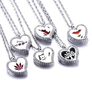 Heart Flavour Chain Magnetic Rvs Aroma Therapy Ethric Oil Diffuser Medallion Hanger Sierades