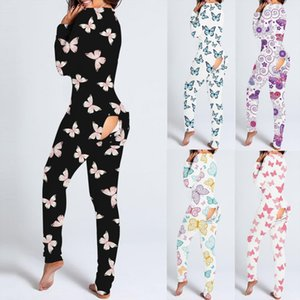 Aesthetic Butterfly Onesies With Butt Womens Jumpsuit Flap Adults Christmas Sexy Sleepwear Romper Tracksuit Open Pajamas