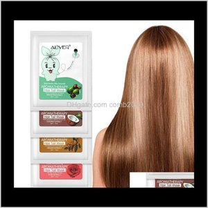 Aliver Steam Hair Tail Mask Rose Coconut Shea Butter Extract Moisturing Nourishing Hair Conditioner For Dry Damaged Hairs 6Pcs El411 Rxga1