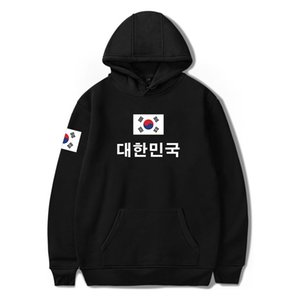 Moda 4XL South Vestiti Nuova Bandiera Corea Pullover Felpa Korean Plus Size Felpe con cappuccio PringItng of National Flag Ultx