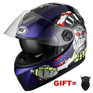 Casques de moto 2021 Matte Noir Casque de visage complet avec double lentenracing Casco Casque Moto Double Sun Lens Visors pour Adultes Man Femmes
