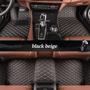 Custom leather car floor mats For jeep grand cherokee compass commander renegade waterproof car accessories Foot mats