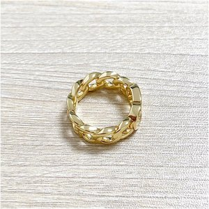 Anillo de diseño de lujo Ring Twisted Cobre Anillo de bodas CD anillo de oro para mujeres de moda simple amor bohemia joyería para mujeres con caja