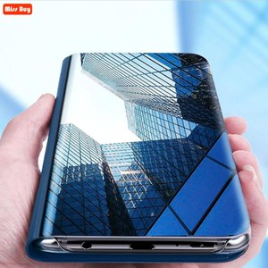 For OPPO A5S Case AX5S Luxury Mirror Flip Smart Stand Cover CPH1909 A 5S Fundas AX Coque Cell Phone Cases