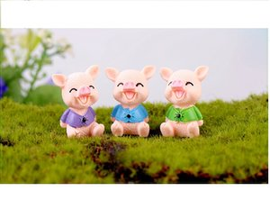 lovely mini cake toppers mix pigs microlandschaft capsule toys for kids