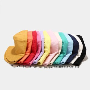 Customize Unisex Bucket Hats Letter Embroidery Foldable Women Outdoor Sunscreen Cotton Fishing Hunting Cap Men Basin Chapeau Sun Prevent Hat