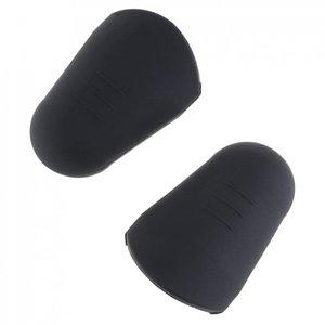2pcs 3.7 x 2.3 x 1.3cm Rubber Soprano Saxophone Metal Mouthpiece Protective Cap Head