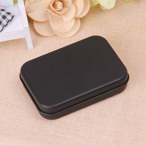 مستطيل القصدير مربع أسود حاوية معدنية الصفيح صناديق الحلوى مجوهرات لعب صناديق تخزين بطاقة هدية التعبئة والتغليف zze5195