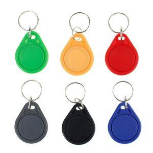100pcs 13.56mHz RFID Keychain Key FOB MF 1K IC NFC Keyfobs PROXIMITY KEY TAG CARTES POUR UN JOI DE COMMANDE D'ACCÈS DE PORTE SMART