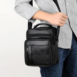 Briefcases Men Business Office Briefcase Leather Handbag Computer Laptop Tote Male Large Casual Black Shoulder Bags 2021