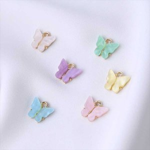 Curtain & Drapes 2 Bags Fashion Alloy Butterfly Setting Resin Charms Cute DIY Animal Pendant Handmade Jewelry For Necklace Bracelet