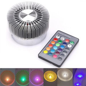 Modern Led Surface Mounted Wall Lamps Remote Control Colorful Downlight Spot Light For Living Room Corridor Bar KTV Party lights