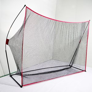 Keenstone 10x7ft Portable Golf Net Golf Practice Net for Indoor and Outdoor Hitting Driving and Chipping Practice with Tri Turf Hitting Mat
