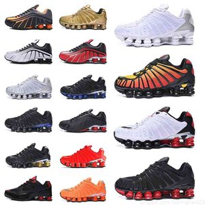 Top Quality Nkshoxs TL R4 Sports Chaussures pour hommes Formatrices Enigma Sp Running Sneakers Blanc Argent Blanc noir Rose Rose Dark Grey Cargo Khaki