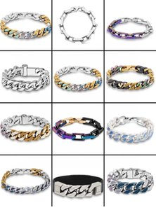 Fashion charm link chain bracelet pour hommes bangle braccialetto for men wedding lovers gift hip hop jewelry