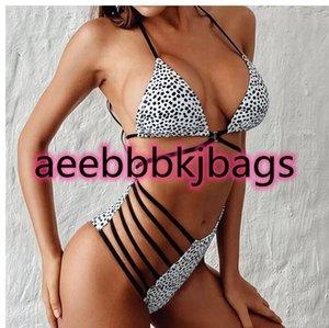 Sexy bikinis High Waist Dot Print Bikini swimwear Women Halter Push Up set Swimsuit female Beach Wear Bathing Suit