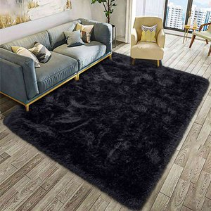 Fluffy Soft Kids Anti-Skid Large Fuzzy Shag Fur Area Rugs Modern Indoor Home Living Room Carpet Children Bedroom Rug