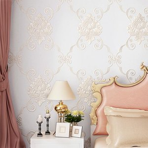 Wallpapers 3d Luxury European Garden Bedroom Wedding Room Korean Warm Romantic Non-woven Living TV Background Wall Paper
